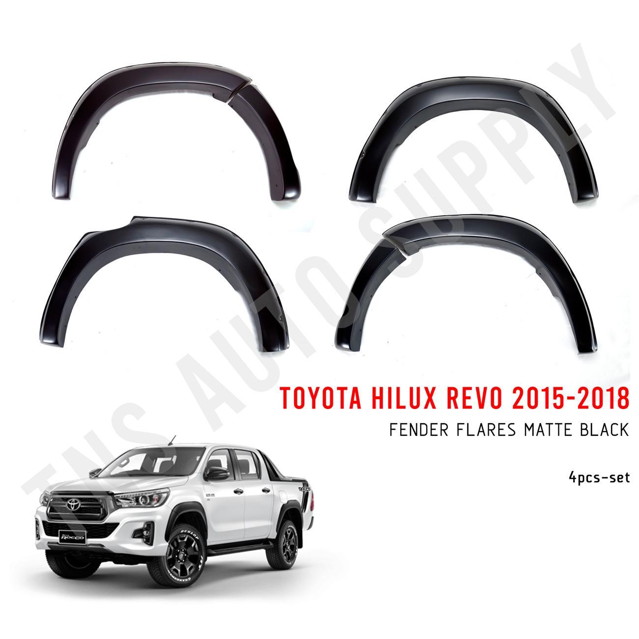 "Fender Flares 6/"" TRD Trim Matte Black For Toyota Hilux Revo Rocco 2018 2019"