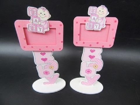 12pcs Pink Photo Card Baby Boy Shower Christening Give Away Souvenir
