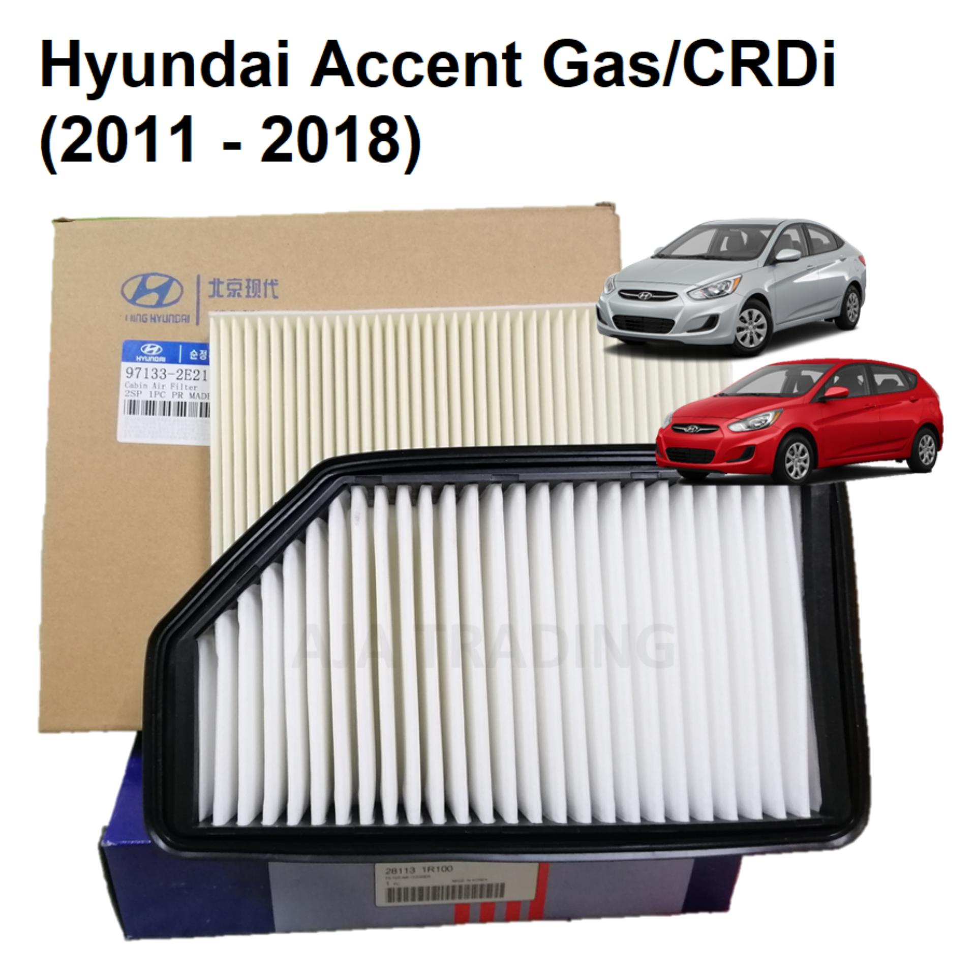 combo air filter and cabin filter for hyundai accent (2011-up)