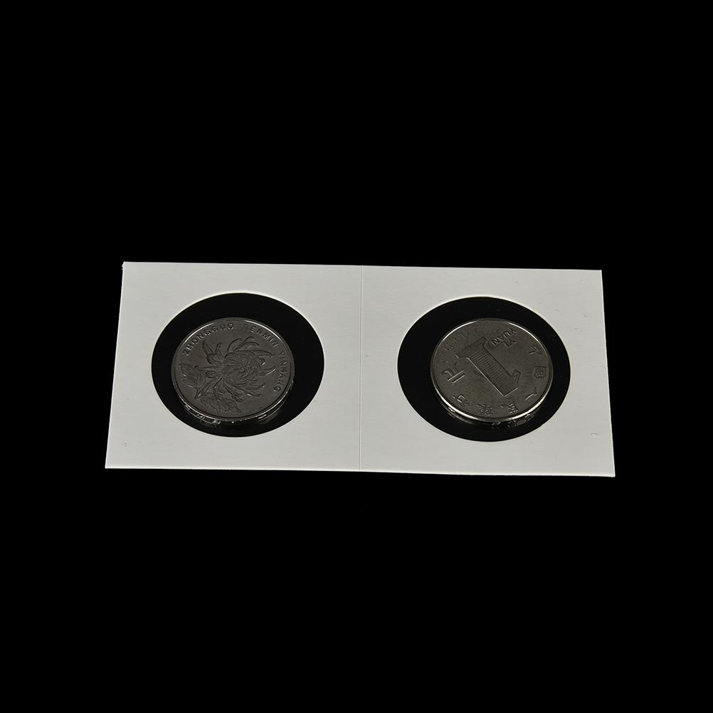 100pcs Cardboard Coin Holders Flips Mylar Coin Organizer Tools 35mm