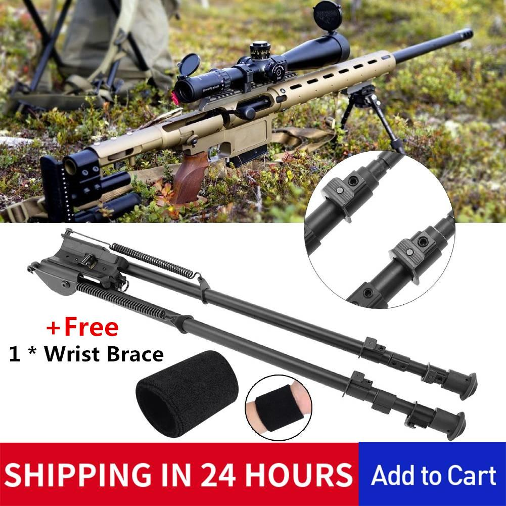 27 inch Long Range Hinged Base Swivel Model Rifle Bipod Shooting Adjustable Leg