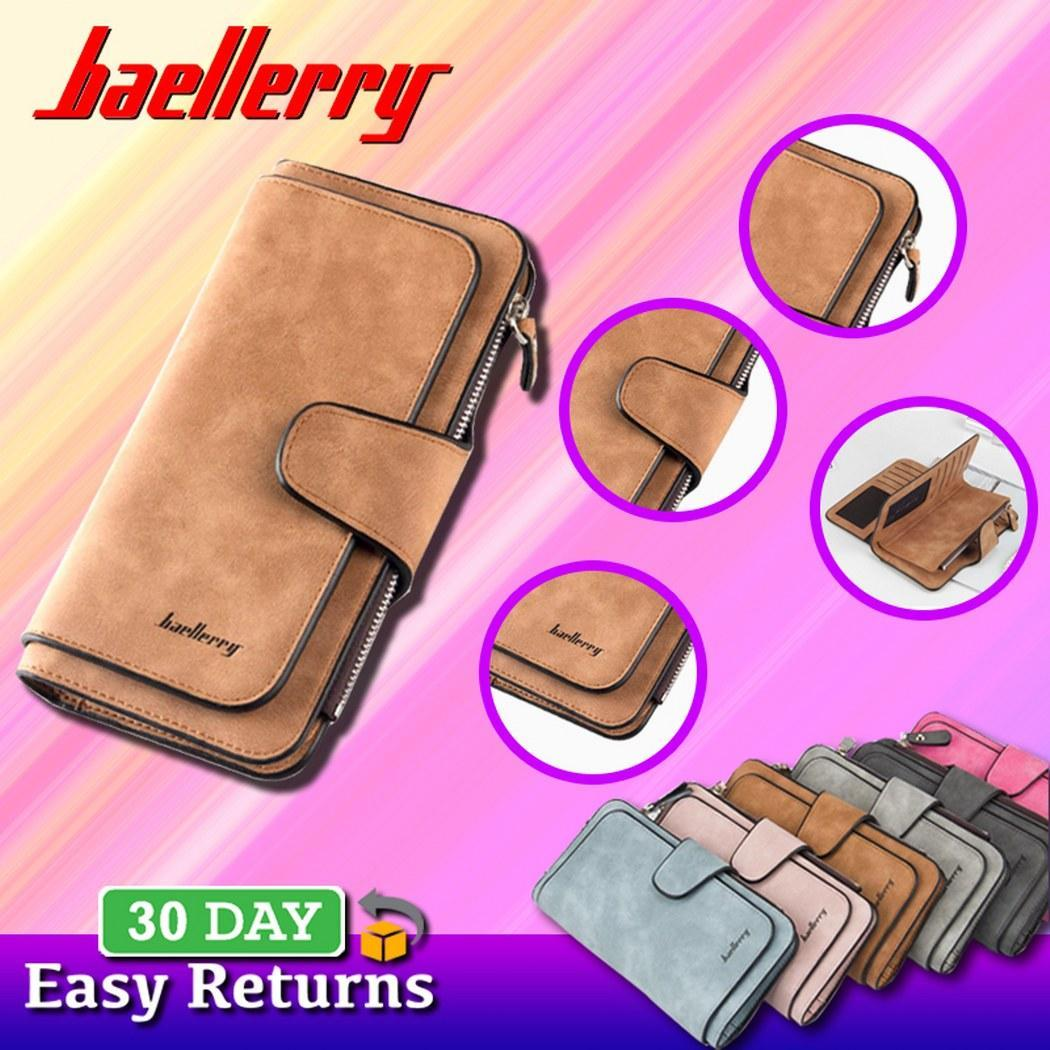 83a7474d513 Baellerry brand Female wallets High quality 3 fold Wallet Women Long Style  lady Purses Capacity Clutch