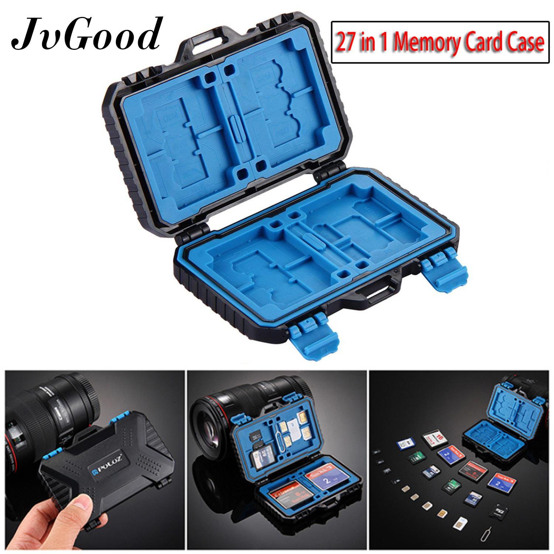 SD Card Case Storage Box Portable Waterproof and Shockproof Memory Card Case for 4*CF//4*XQD 8*SD 12*TF 1*SIM 2*NANO SIM 2*MICRO SIM 1*Card Pin Slots Protector SD CF XQD TF SIM Memory Card Box Holder