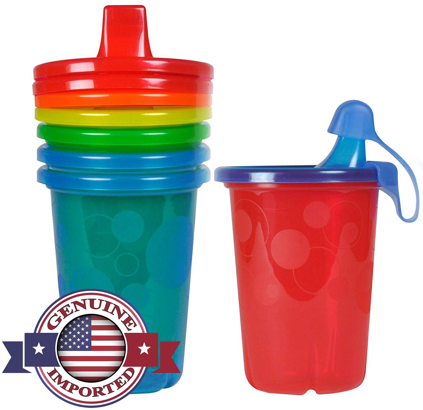 The First Years Sippy Cups - Take & Toss - 10 Ounce or 296ml - Spill