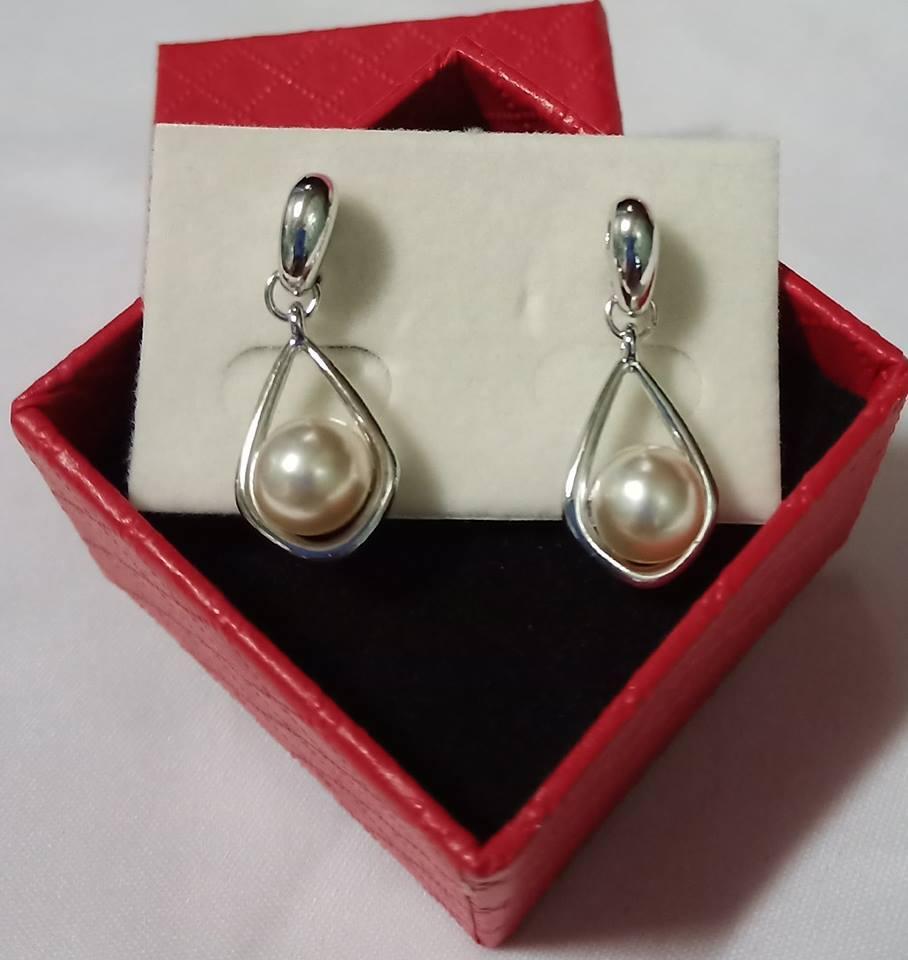 c0b6ec35c Zyrene Hypoallergenic White Gold Plated Stud Earrings for Women/Kids with  FREE gift box (