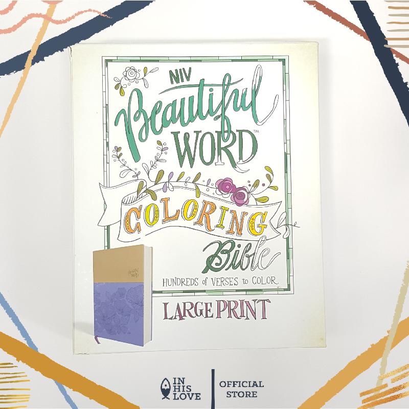 Imported Niv Beautiful Word Coloring Bible Large Print Imitation Leather Purple And Tan Lazada Ph