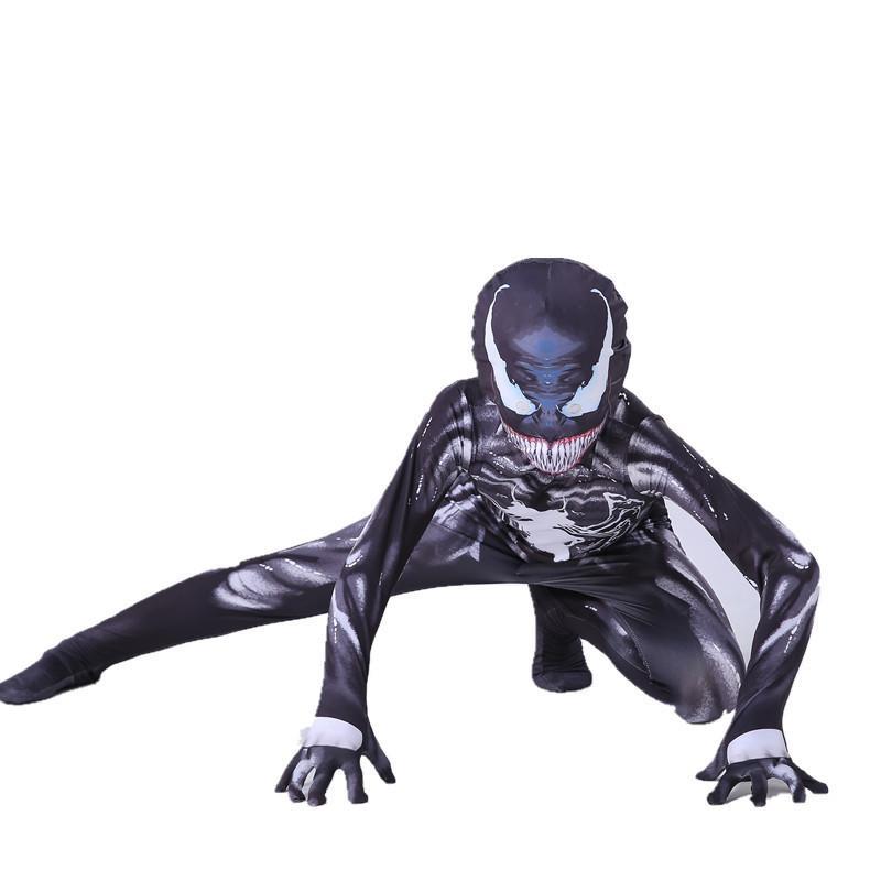 Venom Bodysuit Costume for Kids Adult Halloween Cosplay