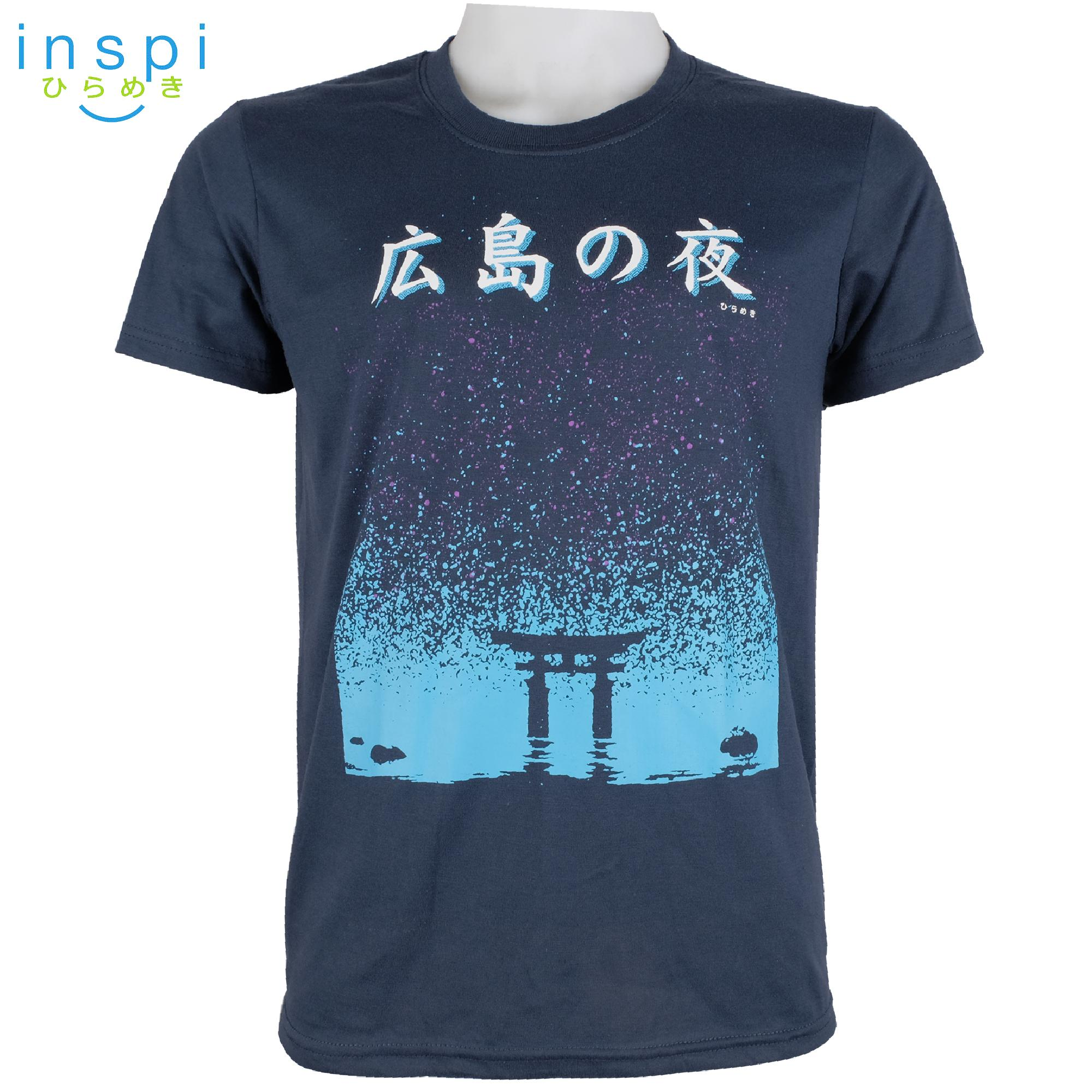ec692fcd INSPI Tees Hiroshima Night (Navy Blue) tshirt printed graphic tee Mens t shirt  shirts