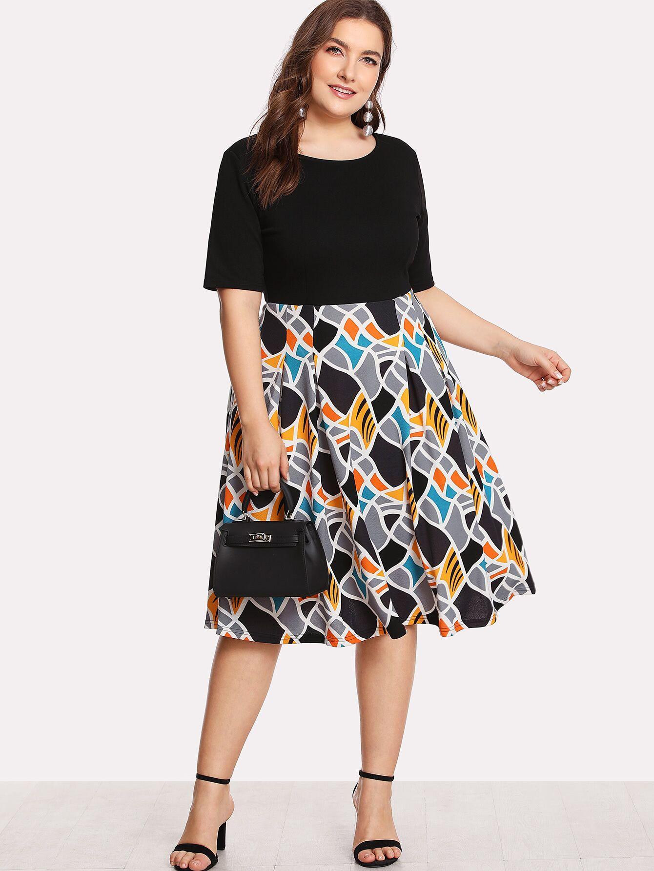 1deff6d4488b7 #A1966 Combined Plus Size Dress XL (XXL) XXXL