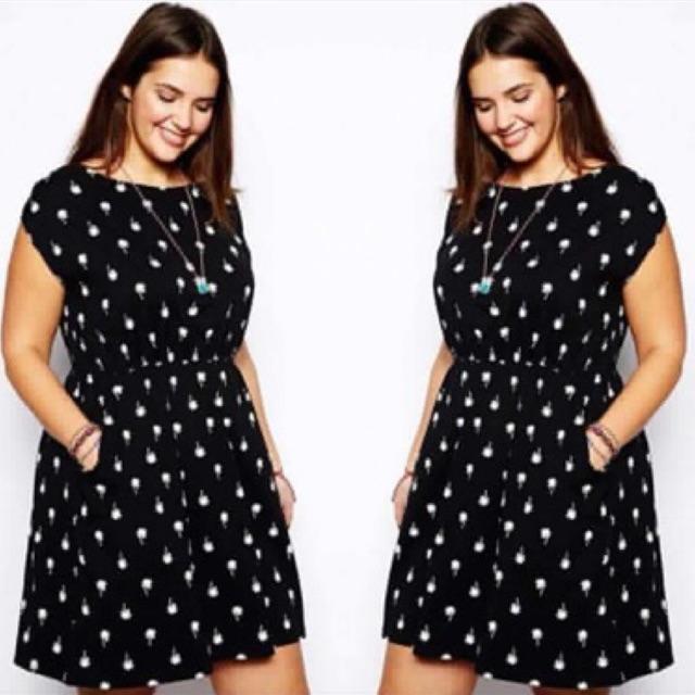 Sebrina store fashion spring summer new arrival elegant floral Plus size  dress round collar little short 428e0c055d9e