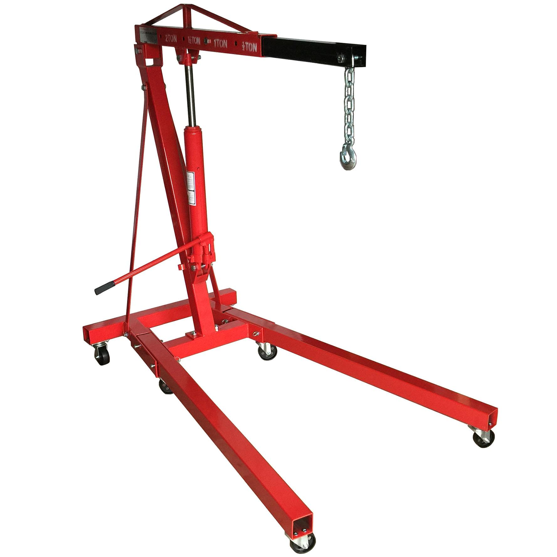 S-Ks Tools Usa Jm-71001 Heavy Duty 1 Tons Folding Engine Crane Hoist (black/red) By Lucrest Marketing.