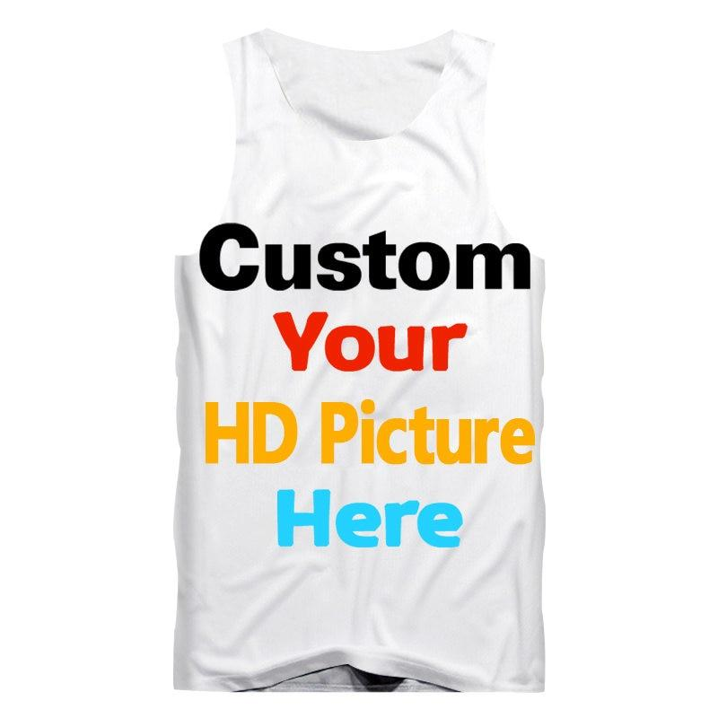 73d1452147b44 Custom Tank Top DIY your Brand Logo own designed Picture character 3d Print