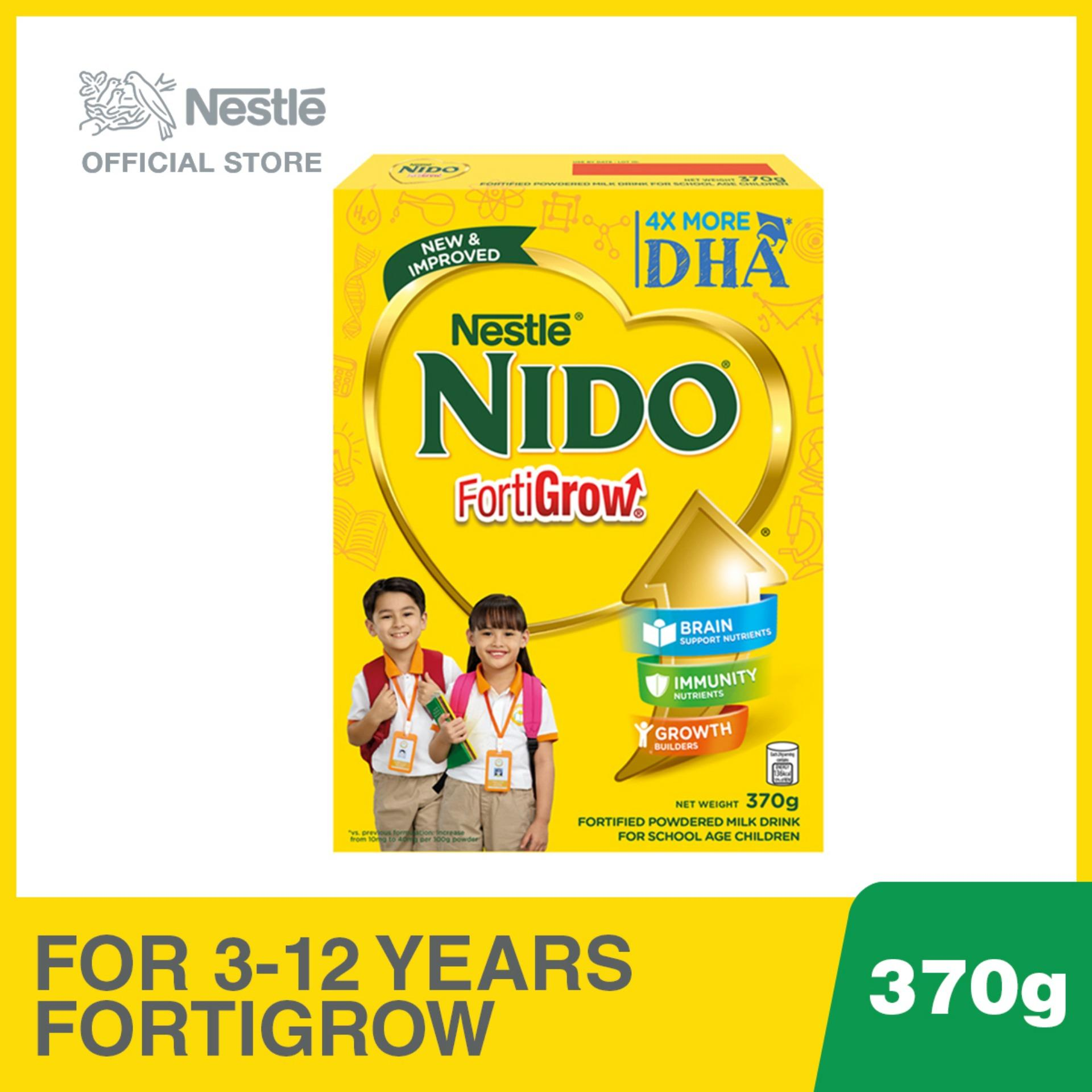 Nido Fortigrow Fortified Powdered Milk Drink 370g By Nestle Official Store.