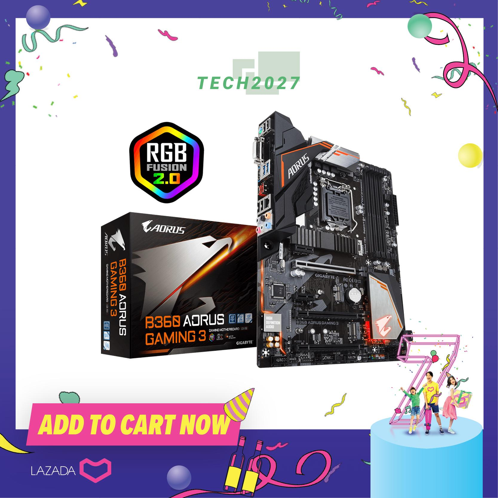 Gigabyte B360 Aorus Gaming 3 Lga 1151 (socket H4) Atx Motherboard By Tech2027