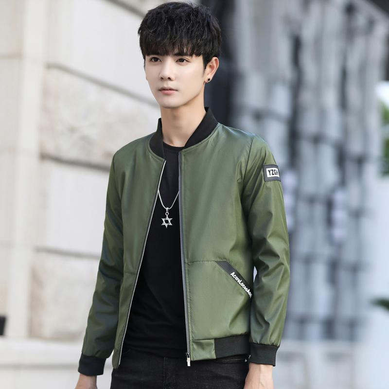 214fcb85455ac 2018 New Style Spring And Autumn Men's Jacket Versatile Simple Leisure Slim  Fit Teenager Students Trend