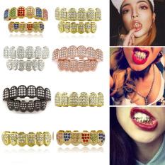 Thời Trang Body Jewelry Mạ Vàng Hip Hop Răng Cap Khuôn Kit Top Và Dưới Grillz Răng Grillz