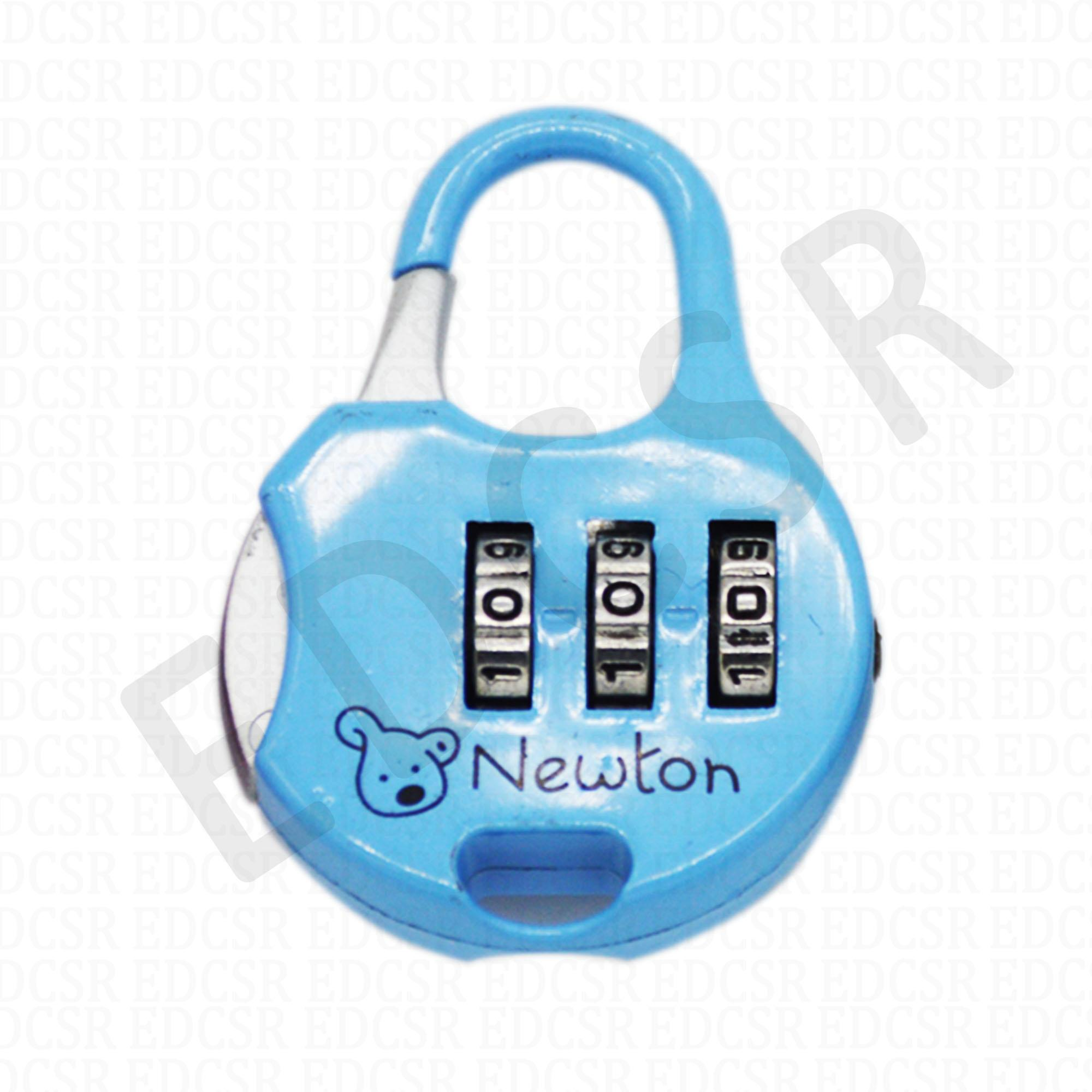 c0483b2f1 Mini Padlock 3 Digit Combination Lock For Travel Luggage And Bags - Ch15b -  Blue By