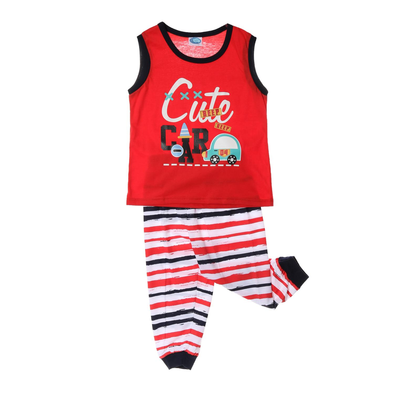 217c7785b4c49 Nap Toddler Boys Cute Beep Beep Pajama Set in Red