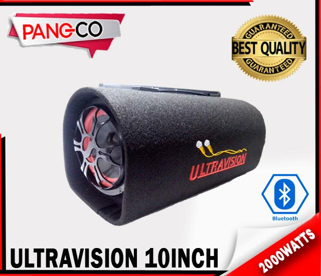 Ultravision Portable 10inch Subwoofer Speaker with Karaoke mic-input and  Bluetooth