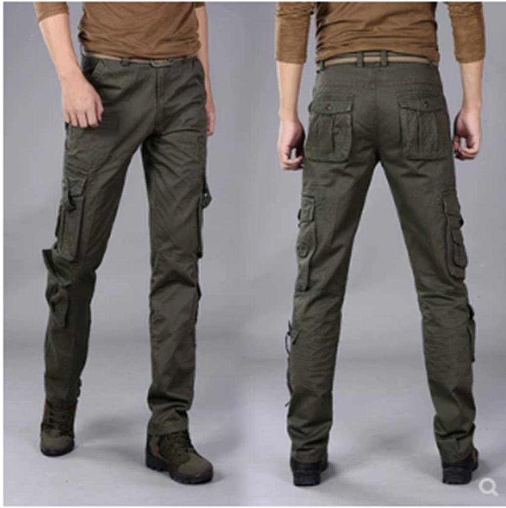 524983b17 High Quality Men's Cargo Pants Casual Mens Pant Multi Pocket Military  Overall Men Outdoors Long Trousers