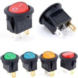 5Pcs 12V 16A LED ON/OFF Round Rocker Switch Car Dash Dashboard Boat - thumbnail 2