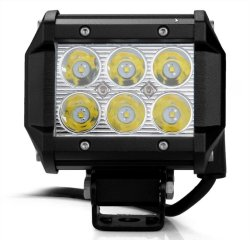 6 LED Light Bar 6500K (Black)