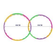 1 pcs Adjustable 65cm 55cm fitness hula hoop Colorful Gym Hula Hoop hula-hoop for