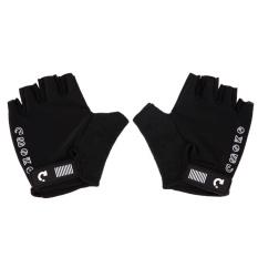 1Pair Breathing Anti Skid Padded Half Finger Cycling Glove - intl