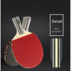 1x Carbon Fiber Table Tennis Racket Double Face Pimples-In Racket Rubber Table Tennis Bat With Bag Top Recommended - Intl By Yangzhou Dazzle Sports Goods Co., Ltd..