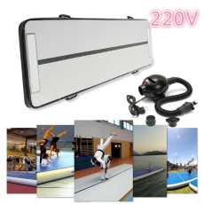 220v GoFun Inflatable Air Track Floor Home Gymnastics Tumbling Mat +110V Pump GYM - intl