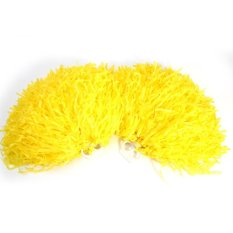 2pcs Cheerleading Pom Poms Sports Dance Ball Party Accessories (yellow) - Intl By Rubikcube.
