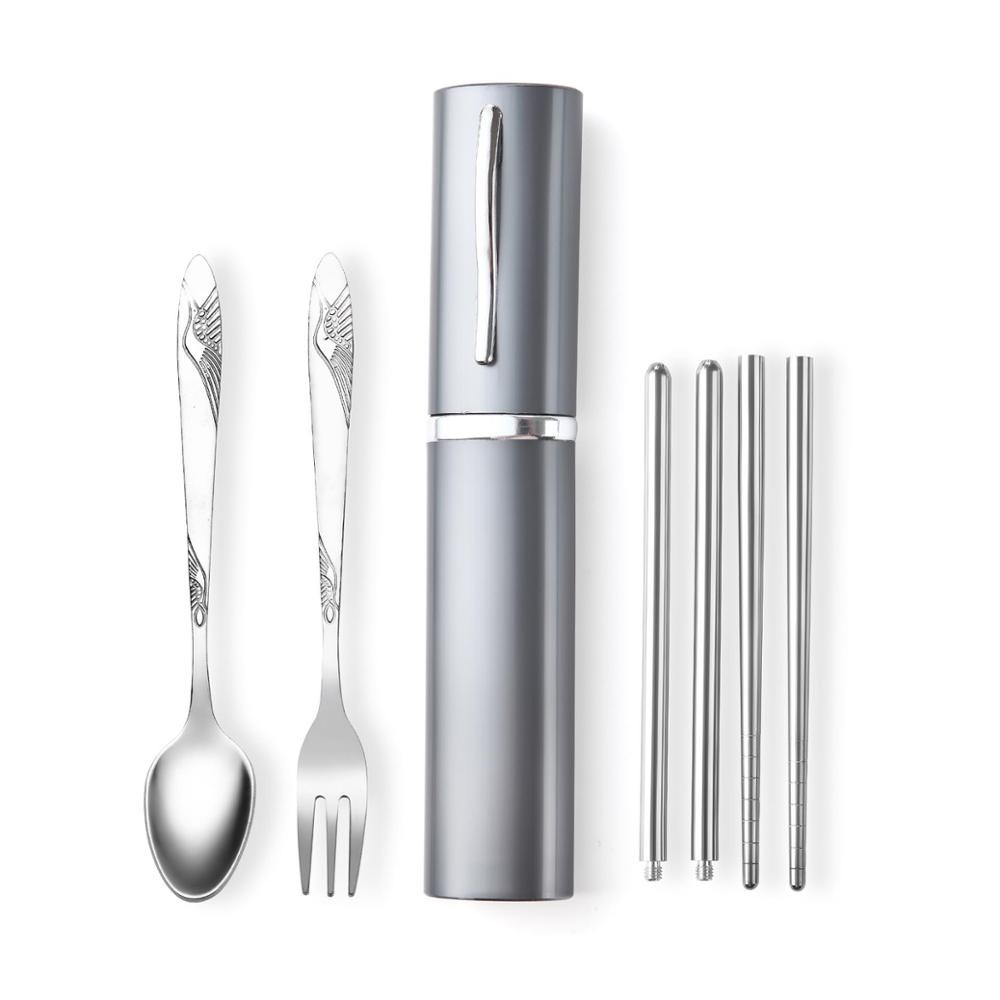 3 Pcs Set Cutlery Mini Tableware Outdoor Portable Travel Kits For Skin Care Cookware Sets