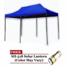 3 X 4.5 Rectractable Tent (blue) With Free Sh-518 Lantern By Smile Smell.