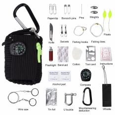 31 Pieces Outdoor Survival Kit Safety Gear Handy Camping Pouch Emergency Kits Bag Portable Fishing Kit