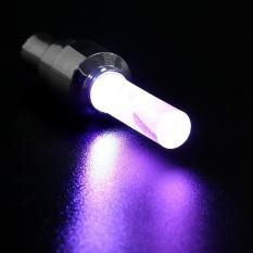 4pcs Bike Car Motor Wheel Tyre Tire Valve Cap LED Light Spoke Flashing Lamp - intl