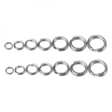 50Pcs//lot Fishing Solid Stainless Steel Snap Split Ring Lure Tackle Connector