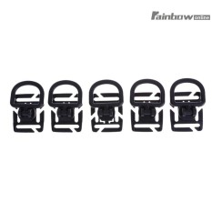 5pcs/Pack Rotatable D-Ring Bag Buckle Webbing Carabiner Outdoor Tools - intl