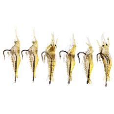 6pcs Shrimp Fishing Simulation Soft Prawn Lure Hook Tackle Bait Lures - intl