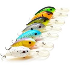7pcs 10cm 15g Plastic Artificial Bait Wobbler 3D Eyes Fishing Lure Laser Crankbait Hard Bait