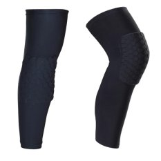 A Pair (Two Pieces) Long Sleeves Sports Basketball Kneepads Honeycomb Knee Pads Leg Brace