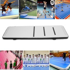 Air Track Floor Home Gymnastics Tumbling Mat Inflatable Air Tumbling Track GYM black - intl