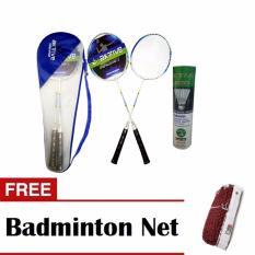 942ca25ba2a Aktive Badminton 1702 and Aktive Shuttlecocks Green Label (6 pcs) with Free  Badminton Net