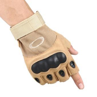 Antiskid ยุทธวิธีครึ่งถุงมือแบบเปิดครึ่งนิ้วการต่อสู้การฝึกซ้อมกีฬาฟิตเนสถุงมือครึ่งนิ้วสี: สีทรายขนาด: L - INTL