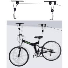 Bike Bicycle Lift Ceiling Mounted Storage Garage Hanger Pulley Rack Metal By Gear Me Up.