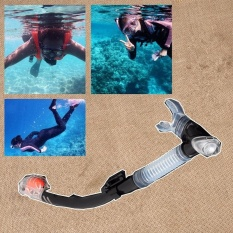 Black Silicone Totally Dry Snorkel Set Gear Scuba Swimming Diving Snorkeling Kit - intl