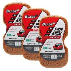 Blade Super Jumbo Sponge Set of 6 (Brown)