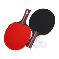 Boliprince Ping Pong Paddle 2-Player Table Tennis Racket W/ 3 Balls For Shake-Hand Grip Players - Intl By Duoqiao.
