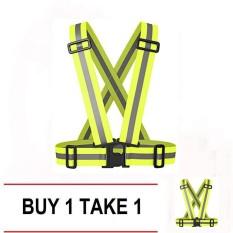 Buy 1 Take 1 Garterized Safety Vest/belt Reflective (green) By The Sonic Shop.