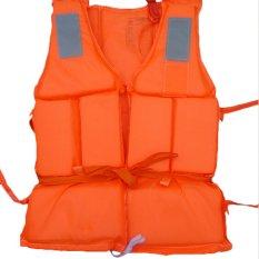 318e48ba1f0 Buytra Flood Foam Swimming Life Jacket Vest + Whistle Orange
