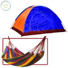 C&ing Tent With Carry Bag Good For 7 Person Multicolor Plus Colorful Canvas Hammock Hanging Sleeping  sc 1 st  Lazada Philippines & Tents for sale - Outdoor Tents online brands prices u0026 reviews in ...